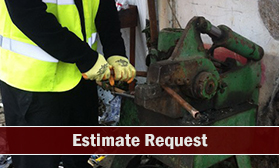 Worker Cutting Scrap Metal - Scrap Metal Merchants in Uxbridge, Middlesex